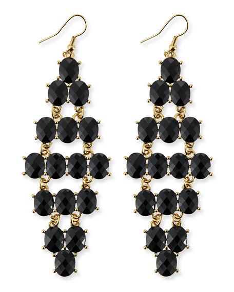 Casino Royale Earrings, Black