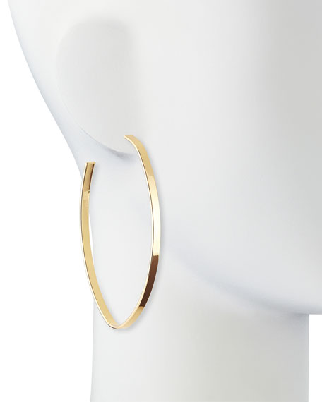 Repeller Hoop Earrings, Gold Plate
