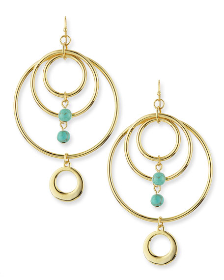 Tangier Hoops, Gold Plate