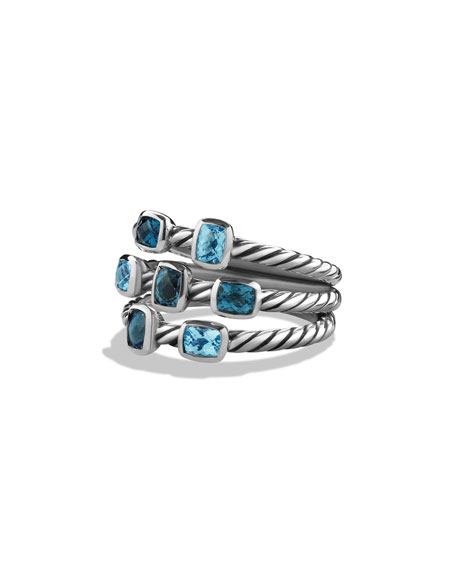 David Yurman Confetti Ring with Blue Topaz and