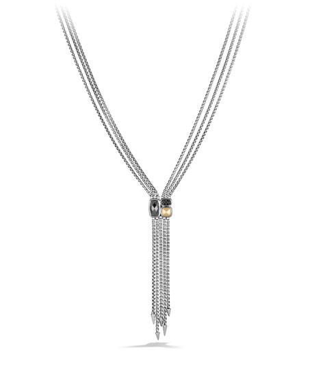 David Yurman Confetti Drop Necklace with Hematine, Black