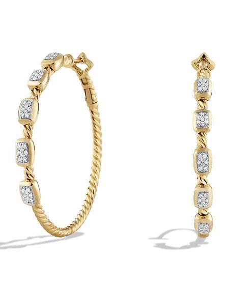 David Yurman Confetti Hoop Earring with Diamonds in