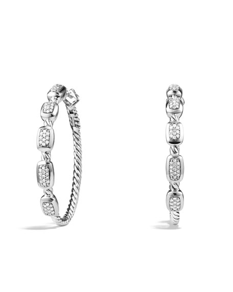 David Yurman Confetti Hoop Earrings with Diamonds