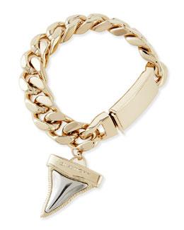 Givenchy Golden & Gunmetal Shark Tooth Bracelet