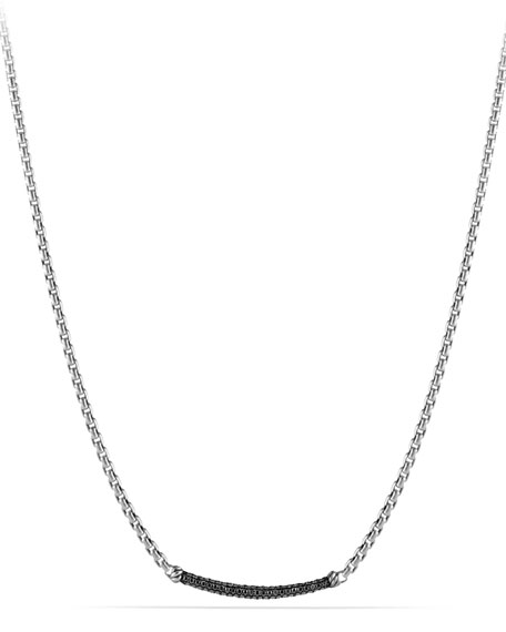 David Yurman Metro Pave Station Necklace