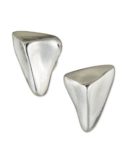 Sequin Nugget Stud Earrings, Silver