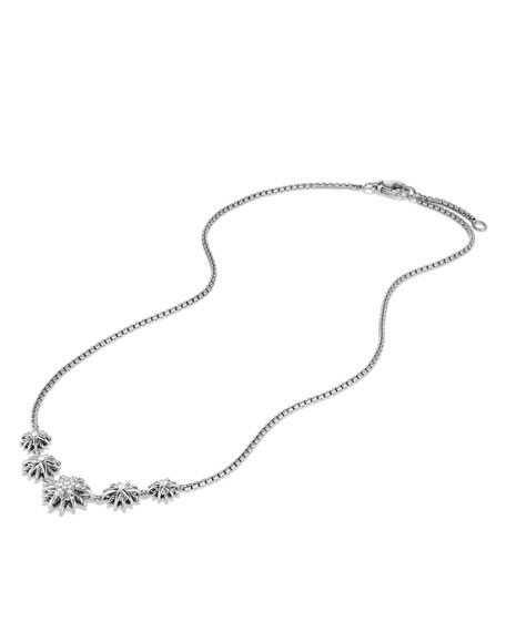 Image 3 of 3: Starburst Five-Station Necklace with Diamonds