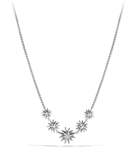 Image 1 of 3: Starburst Five-Station Necklace with Diamonds