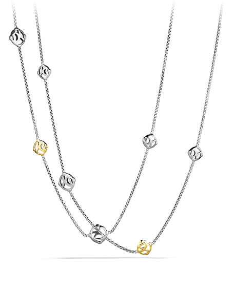 David Yurman DY Logo Chain Necklace with Gold