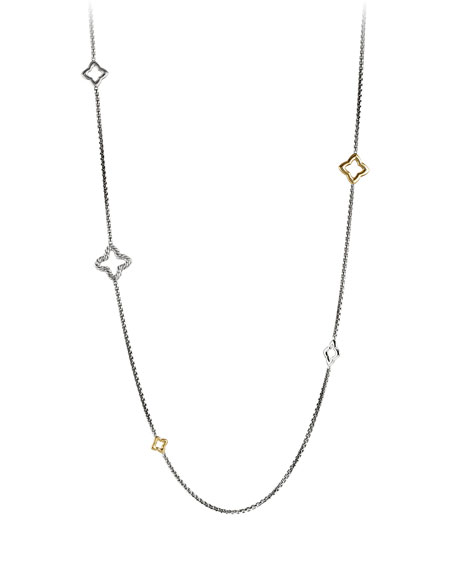 Quatrefoil Chain Necklace with Gold