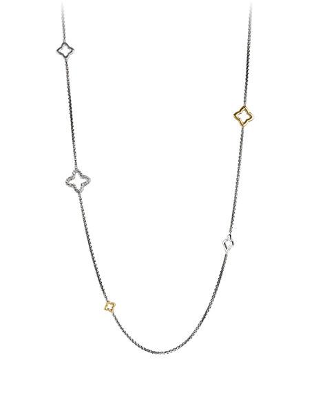 Quatrefoil Chain Necklace with Gold