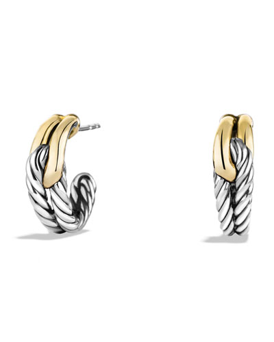 David Yurman Labyrinth Single-Loop Earrings with Gold