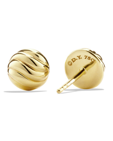 Sculpted Cable Earring in Gold
