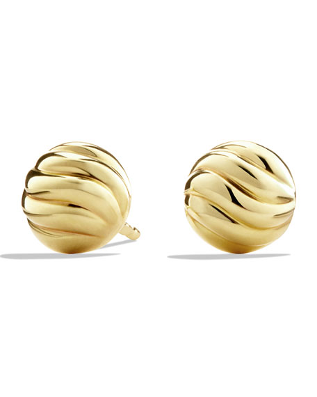 David Yurman Sculpted Cable Earring in Gold