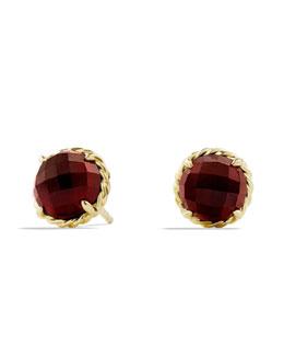 David Yurman Chatelaine Earrings with Garnet in Gold