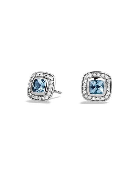 David Yurman Petite Albion Earrings with Blue Topaz