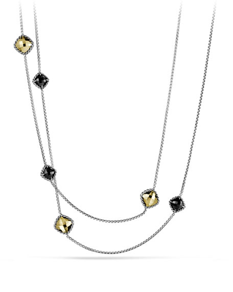 David Yurman Chatelaine Chain Necklace with Black Onyx