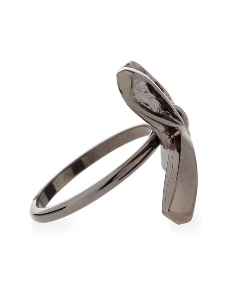 Single Bow Ring, Gunmetal