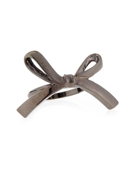 Single Bow Ring, Gunmetal