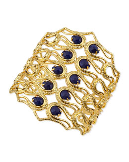 Alexis Bittar Aigrette Scalloped Bracelet with Lapis