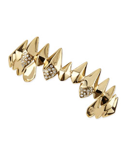 Alexis Bittar Golden Spear Cuff with Pave Crystals