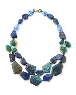 Alexis Bittar Multi-Stone Necklace, Blue