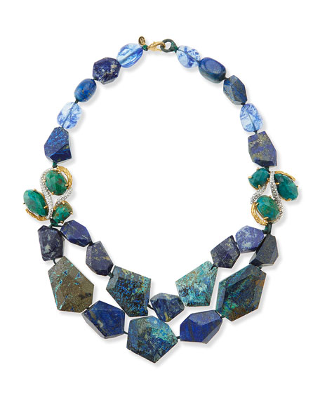 Multi-Stone Necklace, Blue