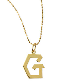 Kacey K Gold Initial Charm