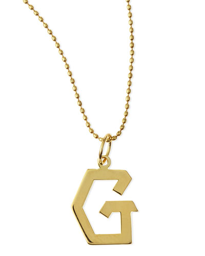 Gold Initial Charm