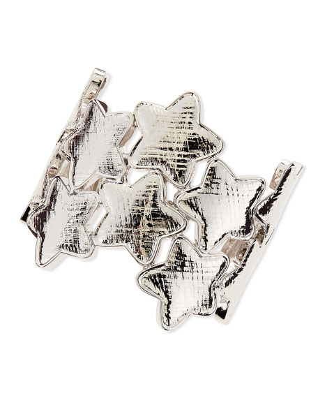 Star Cuff Bracelet, Silver
