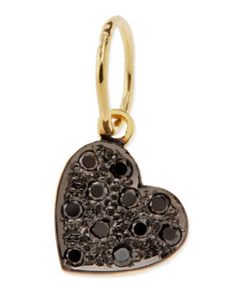 Kacey K Mini Black Diamond Heart Charm
