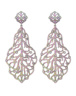 Kendra Scott Luxe Iridescent Rhodium Branch Earrings