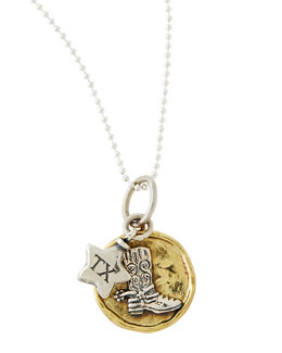 Waxing Poetic Delighted State Charm Necklace, Texas