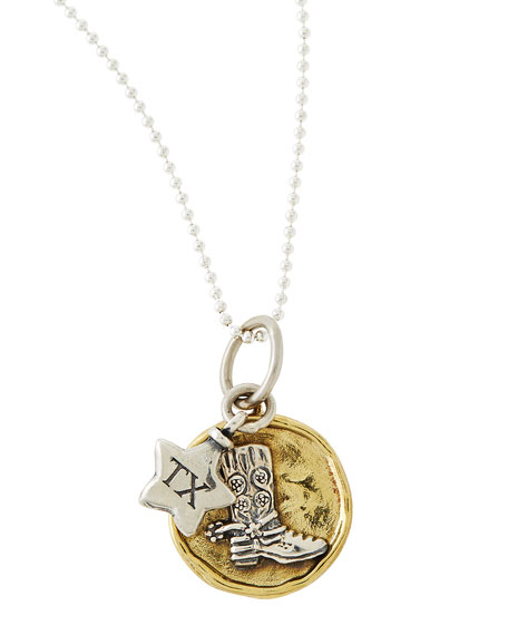 waxing poetic delighted state charm necklace
