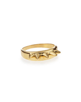 Alexander McQueen Golden Studs Ring