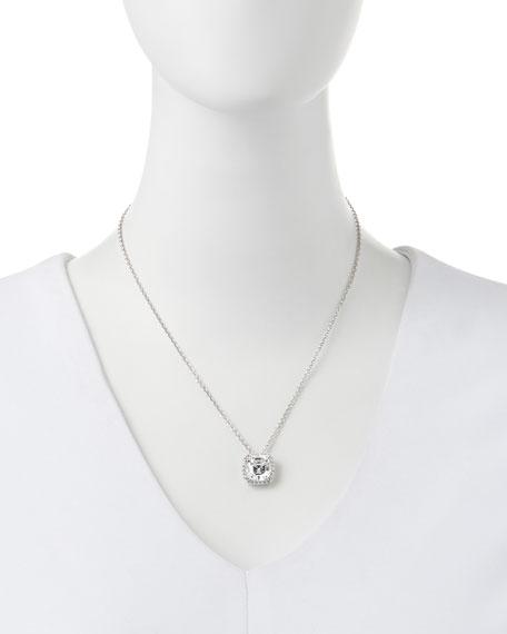 6.75ct Asscher Cut Cubic Zirconia Pendant Necklace