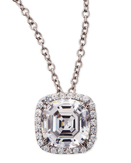 Fantasia by DeSerio 6.75ct Asscher Cut Cubic Zirconia