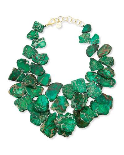 Nest Chunky Emerald Jasper Necklace