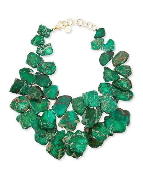 Chunky Emerald Jasper Necklace