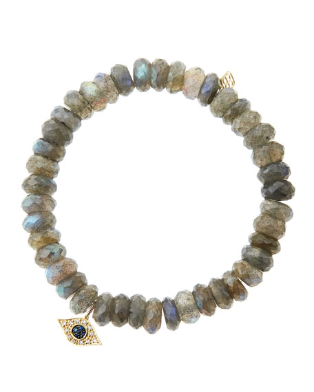 Sydney Evan 8mm Faceted Labradorite Beaded Bracelet with