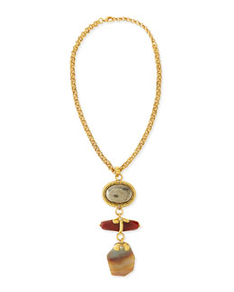 Jose & Maria Barrera Chunky Multi-Stone Pendant Necklace, 24""