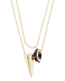 Jules Smith Spike & Tooth Double-Strand Necklace
