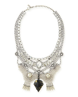 Dannijo Emma Crystal Bib Necklace