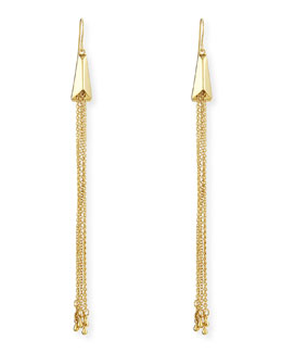 Jules Smith Geometric Scarab Chain Fringe Earrings