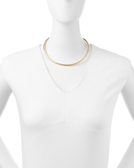 Americana Curved Golden Choker Necklace