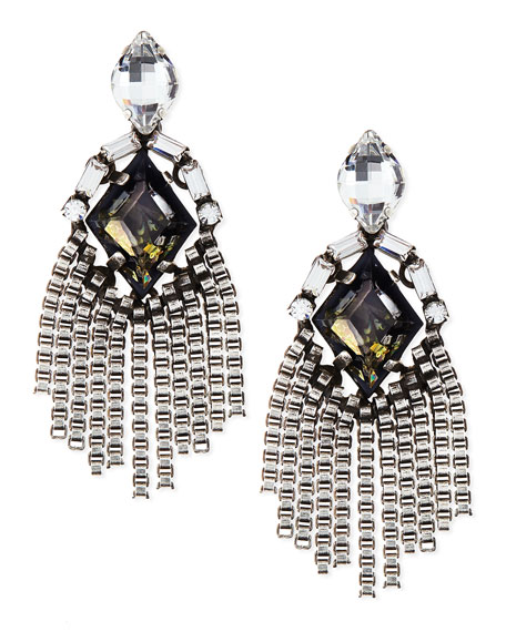 Dannijo Allegra Crystal Drop Earrings