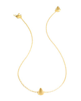 Eddie Borgo Matte Yellow Gold Plated Single Cone Necklace