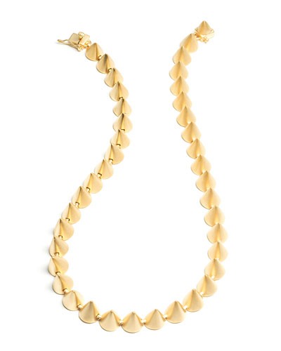 Eddie Borgo Matte Yellow Gold Plated Cone Necklace