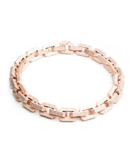 Eddie Borgo Matte Rose Gold Plated Supra Link Necklace