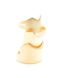 Eddie Borgo Hinged Yellow Gold Plated Ring